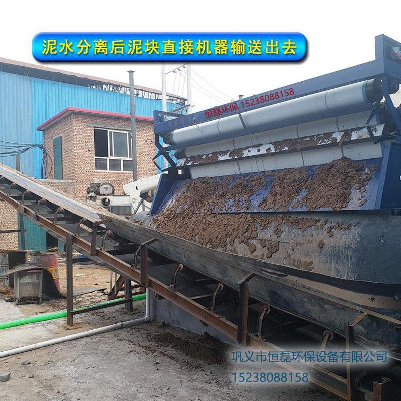 新疆维吾尔自治区砂场泥浆压滤机生产现场