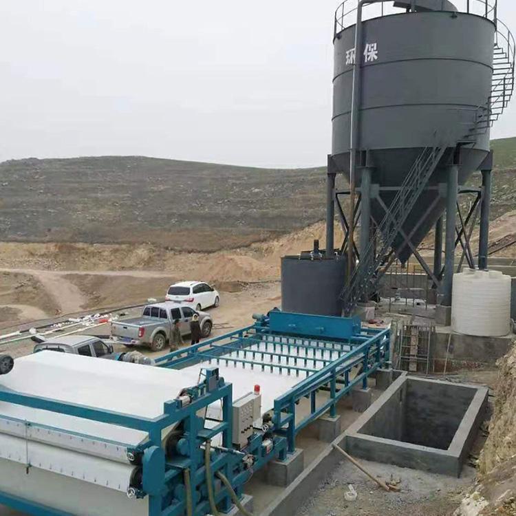 山西省广西玉林3000带式压滤机进驻河道清淤项目